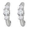 3 Stone Diamond Earrings