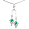 Green Emerald Necklaces