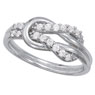 Love Knot Diamond Rings